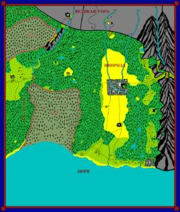 Карта Инириды цветная